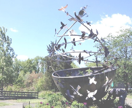 flock-sculpture