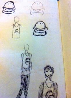 cheeseburger sketch 2
