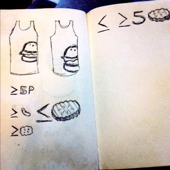 cheseburger sketch